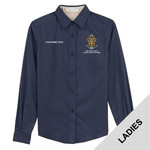 Nat Council - Sea Scouts Logo - Emb - L608 - Ladies Long Sleeve Easy Care Shirt
