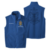 Nat Council - Sea Scouts Logo - Emb - F219 - Fleece Vest with Laser Etched Back